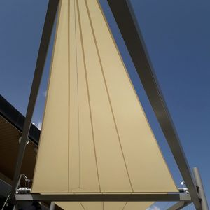 A sail set installed in the Lagoh Shopping Centre.