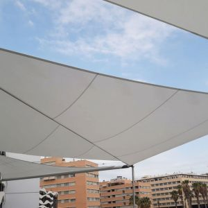 Rolling sails in the Larios shopping center