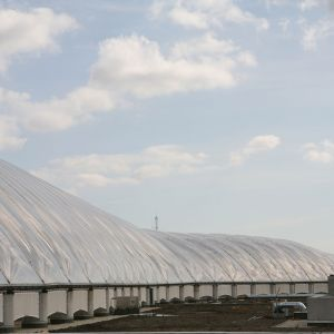 Curvature of ETFE cushions.