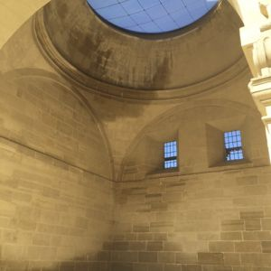 View of the dome from inside the church