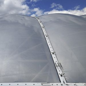 ETFE cushions from outside.