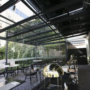 Interior space of the pergola