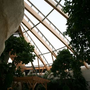Spa interior with ETFE cover