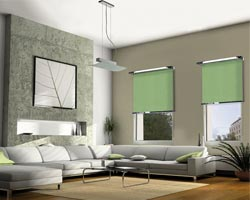 cortina interior rs laylight verde en salon
